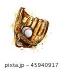 ベースボール 白球 野球のイラスト 45940917