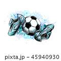 サッカー フットボール 蹴球のイラスト 45940930
