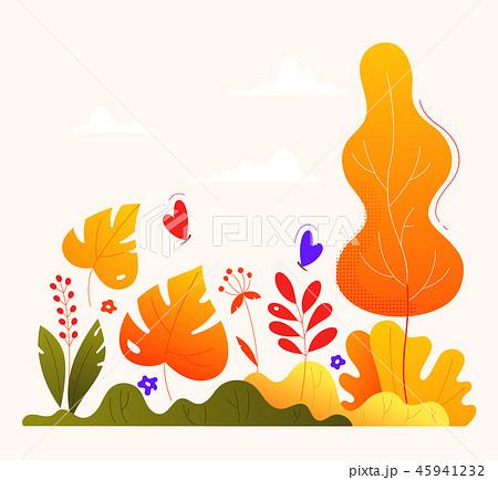 Autumn garden - modern flat design style illustration 45941232
