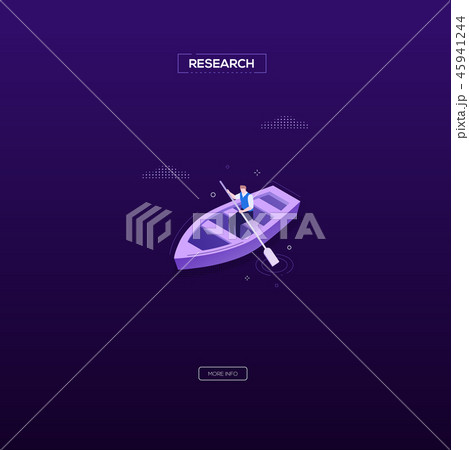 Research concept - modern isometric vector web banner 45941244