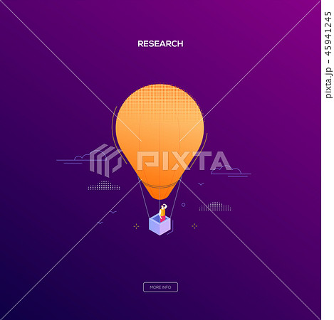 Business research - modern isometric vector web banner 45941245