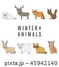 動物 かわいい アイコンのイラスト 45942140