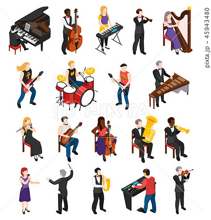 Musicians Isometric People 45943480