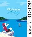 ベクトル クリスマス リゾートのイラスト 45943767