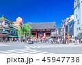 東京 浅草 雷門前の風景 45947738