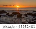岩礁と朝日 45952481