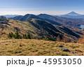 大菩薩連嶺の稜線と富士山 45953050