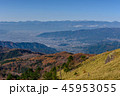 南アルプスの山並みと甲府盆地 45953055