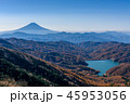 秋の山並みと富士山 45953056