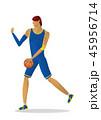 バスケ バスケットボール 選手のイラスト 45956714
