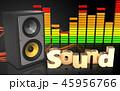 音 音声 音響のイラスト 45956766
