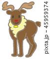クリスマス メリークリスマス 白バックのイラスト 45959374