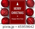 装飾 飾り 赤色のイラスト 45959642
