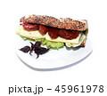 ファストフード ハンバーガー チシャの写真 45961978
