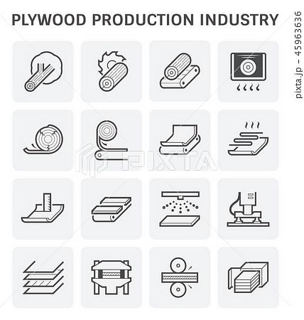 plywood production icon 45963636