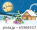 クリスマス 住宅 住居のイラスト 45966537