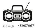 ラジオ 無線機 ラジカセのイラスト 45967067