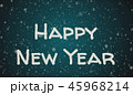 Greeting card Happy New Year, white letters, blue background 45968214