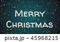 Greeting card Merry Christmas, white letters, blue background 45968215