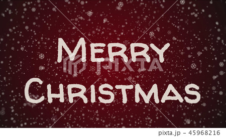 Greeting card Merry Christmas, white letters, red background 45968216