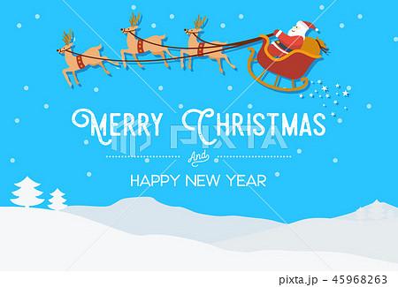 Flat design, Illustration of Santa Clause 45968263