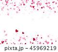 ハート ハート柄 フレームのイラスト 45969219