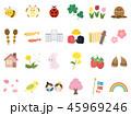 かわいい春のイラスト素材 45969246