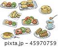 スイーツ 洋菓子 デザートのイラスト 45970759