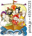七福神 招福 笑顔のイラスト 45973225