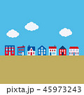 街並み 雲 町並みのイラスト 45973243