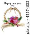 しめ縄 しめ飾り 年賀状のイラスト 45974832