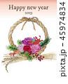 しめ縄 しめ飾り 年賀状のイラスト 45974834