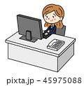 ベクター ビジネス 女性のイラスト 45975088