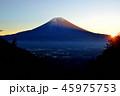 富士山 風景 朝日の写真 45975753