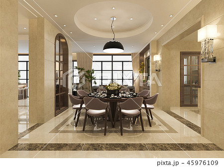 modern dining room and living room 45976109