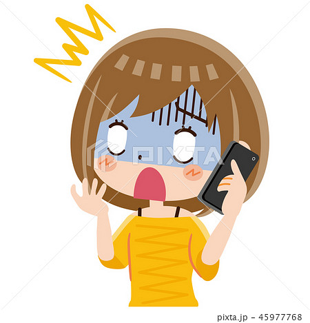 電話 女性 ショック 45977768