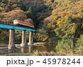 風景 紅葉 久慈川の写真 45978244