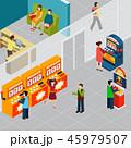 カジノ カジノの スロットのイラスト 45979507
