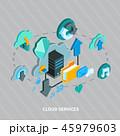クラウド コンピュータ コンピューターのイラスト 45979603