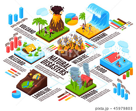 Natural Disaster Isometric Infographics 45979803