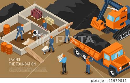 Construction Site Building Background 45979815