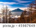 富士山 富士 夜明けの写真 45987649