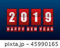 2019 新春 正月のイラスト 45990165