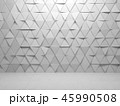 Triangles tiling pattern on front wall, 3d 45990508