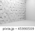 Triangular pattern wall installation, 3d 45990509