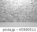 Abstract white interior with random triangles 45990511