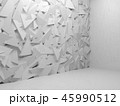 Abstract white interior, 3 d random triangles 45990512