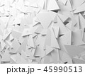 Chaotic triangular pattern on wall, 3d 45990513