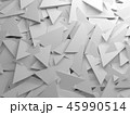 Chaotic triangles pattern on wall, 3d 45990514