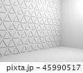 Triangular pattern on wall, 3d render 45990517